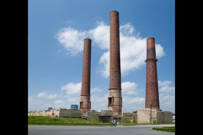 fine art photography, Toledo, smoke stacks