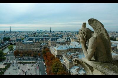 fine art photography, Notre-Dame de Paris, Gargoyles, travel photography